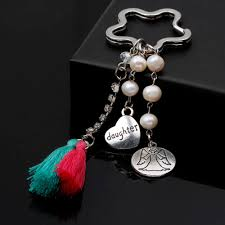 fashion key rings images Fashion silver love heart keychain angel design pearl 0 2cm jpg