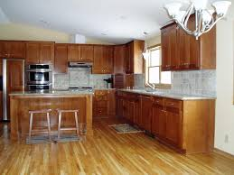 Hardwood Kitchen Cabinets Cool Kitchen Tile Floors With Oak Cabinets Home Design And Decor