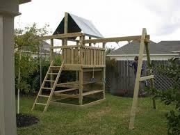 gemini diy wood fort swingset plans jacks backyard photo on