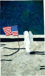 Is The American Flag Still Standing On The Moon Art Quilts Fly Me To The Moon