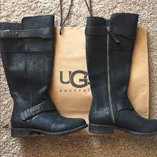 ugg boots on sale 68 ugg shoes brand ugg dayle black leather boots 6