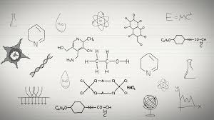 black and white animation of chemistry sciences subject with