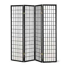 Privacy Screen Room Divider by 4 Folding Panel Room Divider Privacy Screen Separator Japanese
