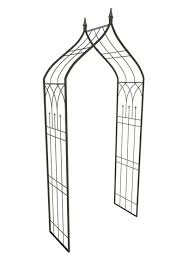 ogee metal garden arbor with finials metal arbor by panacea