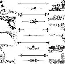 nouveau ornament corners and dividers stock vector roman4