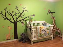 Nursery Jungle Decor Interior Delectable Childrens Jungle Bedding Theme Nursery Wall