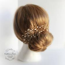 hair bun accessories helen hair vine blush pink gold bridal hairpiece gold