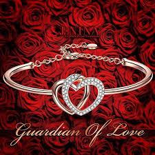 rose gold love heart bracelet images J nina guardian of love rose gold plated heart women 39 s bracelet jpg