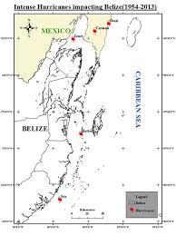 Hurricane Tracking Map Belize Hurricane Net
