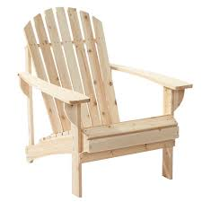 Home Chair Unfinished Stationary Wood Outdoor Adirondack Chair 2 Pack 11061