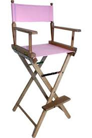 Tall Director Chairs Wooden Makeup Artist Chair S102n Headrest Promo Pack Makeup