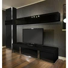 Tv Storage Cabinet Large Tv Stand Wall Mounted Storage Cabinet Black Glass Black