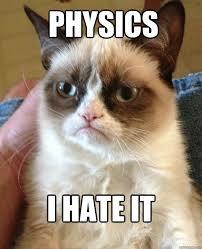 I Hate Memes - physics i hate it cat meme cat planet cat planet