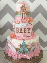 bohemian baby shower tribal baby shower centerpiece in pink mint and gold bohemian
