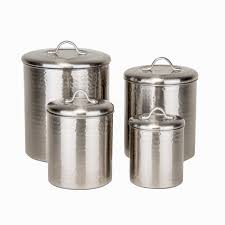 Fleur De Lis Canisters For The Kitchen Kamenstein 4 Piece Brushed Bronze Kitchen Canister Set