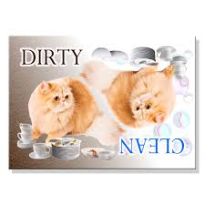 Dirty Clean Dishwasher Magnet Persian Cat Clean Dirty Dishwasher Magnet No 4 Wag Whimsy Dog Gifts