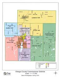 Michigan County Maps by 2017 Commissioner District Detail Maps Otsego County