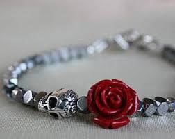 skull crystal bracelet images Skull bracelet women 39 s skull bracelet gift for jpg