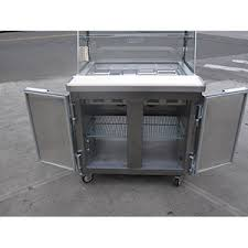 Used Sandwich Prep Table by Leader Lm36 Sc Ss Bain Marie Self Contained Sandwich Prep Table 36