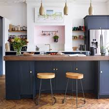 versus light kitchen cabinets navy kitchen ideas to add an element of rich colour and