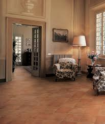 Decorative Armchairs Flooring Traditional Family Room Design With Cozy Vitromex Tile
