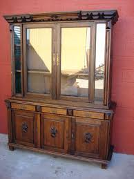 Vintage Display Cabinets Bookcase Large American Renaissance Revival 4 Door Bookcase