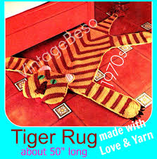 home decoration pdf instant download pdf pattern tiger crochet pattern vintage