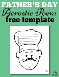 Acrostic Thanksgiving Poem Free Printable Father U0027s Day Acrostic Poem Template