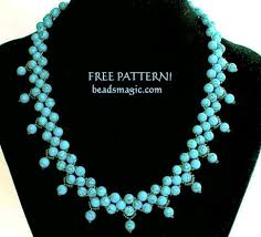 beads wedding necklace images Free pattern for necklace firoza beads magic jpg