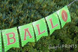 free printable football banner dimple prints