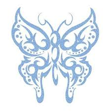 glitter light colored butterfly temporary tattoos for you