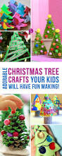 super cute christmas tree crafts for kids to make christmas