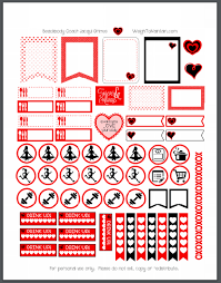 printable stickers valentines printable valentine s day planner stickers to organize your week