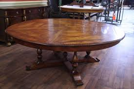Antique Farm Tables by Jupe Table Extra Large Round Solid Walnut Round Dining Table