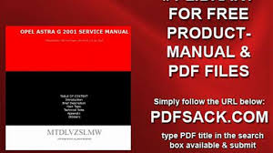 opel astra g 2001 service manual video dailymotion
