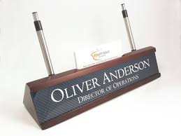 wooden pencil holder plans personalized desk name plate nameplate business card and pen with