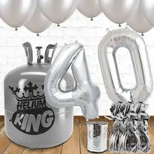 silver balloons 40th birthday silver balloons helium package partyrama co uk