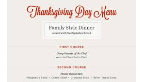 maggiano s italy thanksgiving menu 2015