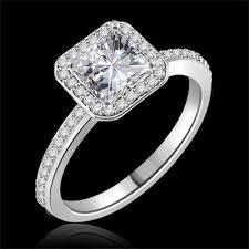 moissanite vintage engagement rings vintage princess cut moissanite engagement ring 1 20