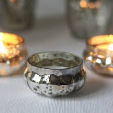 mercury tea light holders mini floating mercury silver glass tea light holders the wedding
