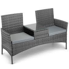Argos Garden Furniture Vonhaus Rattan Loveseat Bench Outdoor Garden 2 Seater Jack U0026 Jill