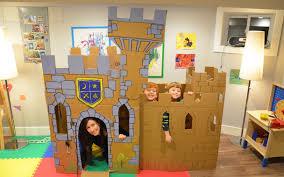 build a cardboard castle fort youtube