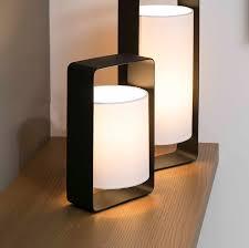 Grandes Lampes De Salon by Lampe à Poser Lula Noir Et Blanc H27cm Faro Nedgis