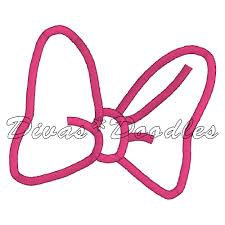 minnie mouse bow outline free download clip art free clip art