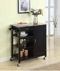 linon kitchen island amazon com linon cameron kitchen cart with granite top kitchen