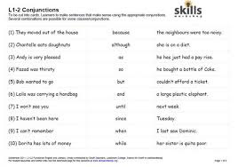 sentence structure and conjunction cards