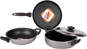 buy maple trellis induction base cookware set online at low prices