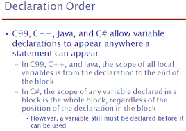 java what is meant by scope of a variable software