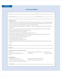 monitoring visit report template 7 visit report exles sles