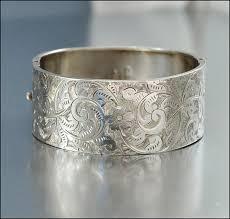 antique jewelry bracelet images Sterling silver bangle bracelet antique jewelry victorian jewelry jpg